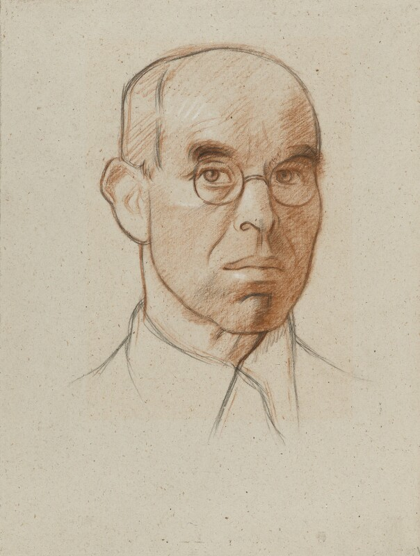 Sir William Rothenstein by Sir William Rothenstein sanguine and black and white chalk, circa 1930 NPG 3880. Credit: National Portrait Gallery