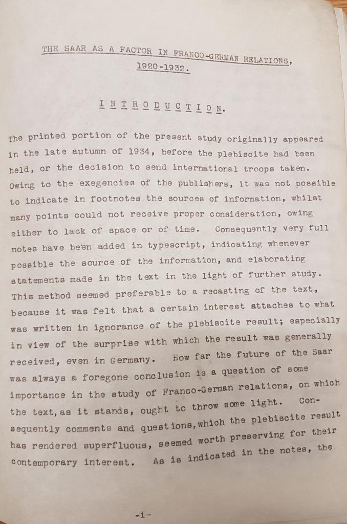 Margaret Lambert's thesis. Credit: LSE