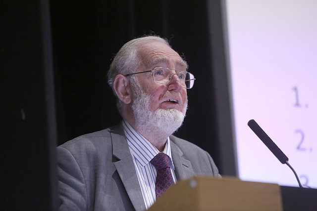 Tony Atkinson speaking at LSE in 2015. Credit: LSE