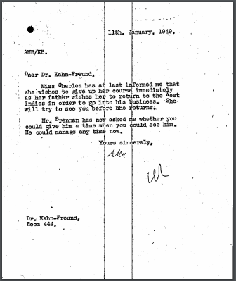 Eugenia Charles LSE withdrawal letter
