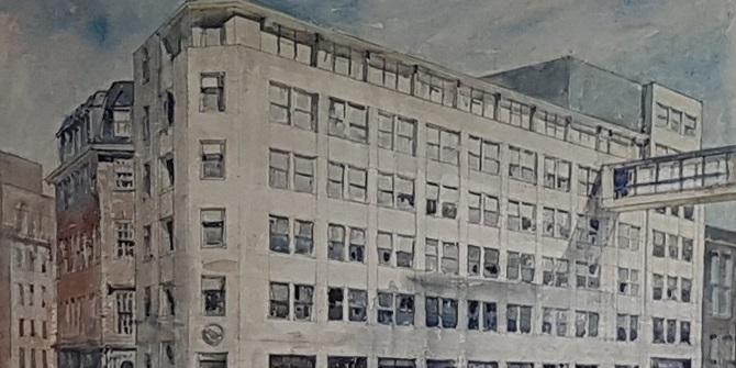 An architect's view – St Clement's Building watercolour