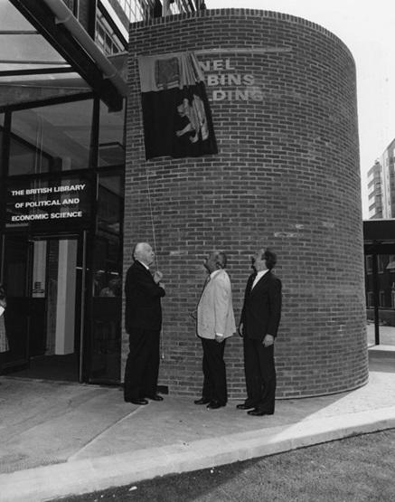 Lionel Robbins, Huw Weldon, Ralf Dahrendorf 1978. Credit: LSE Library