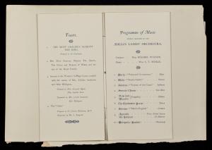 Banquet programme
