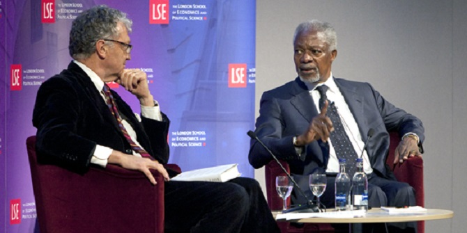 Kofi Annan's public lecture at LSE – a life in war and peace