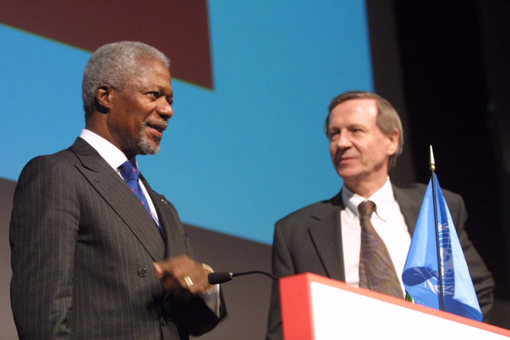 Kofi Annan, the Secretary General of the United Nations, at the Global Dimensions lecture - From Doha to Johannesburg by way of Monterrey: How development can be achieved and sustained in the 21st century. 26th February 2002