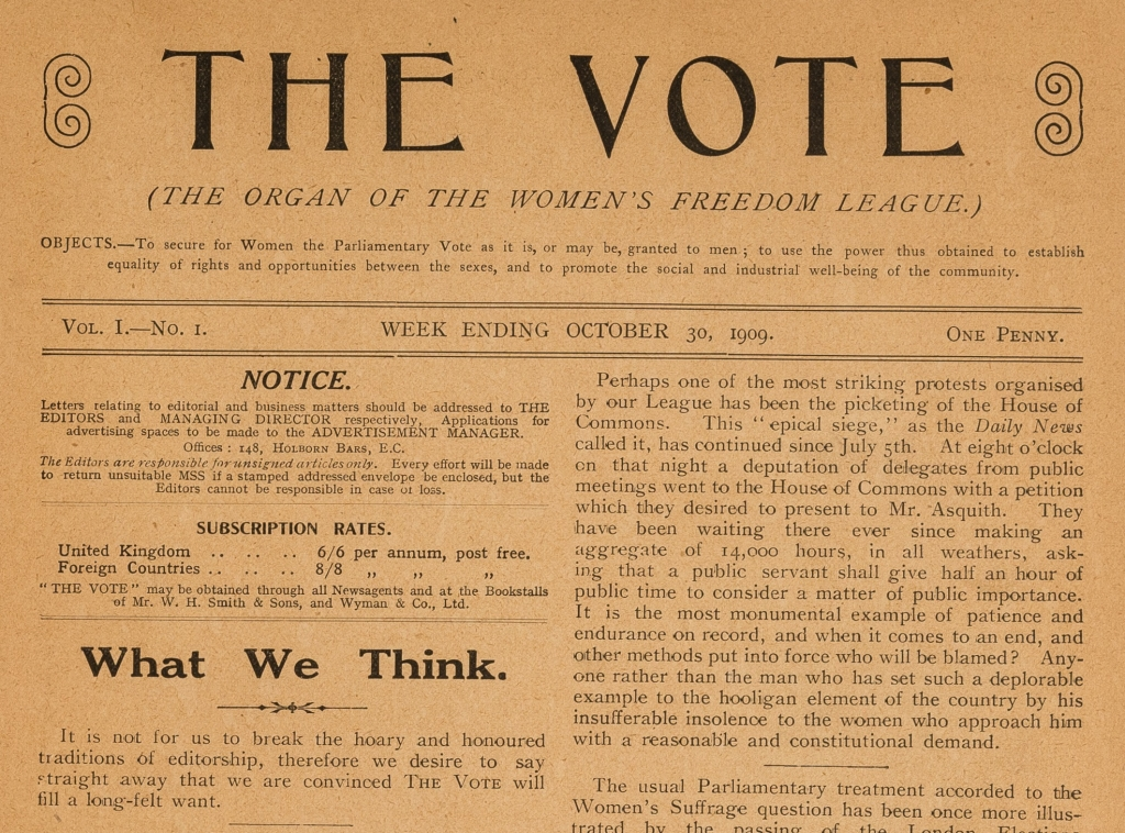 The Vote 30 October 1909. Credit: LSE Library