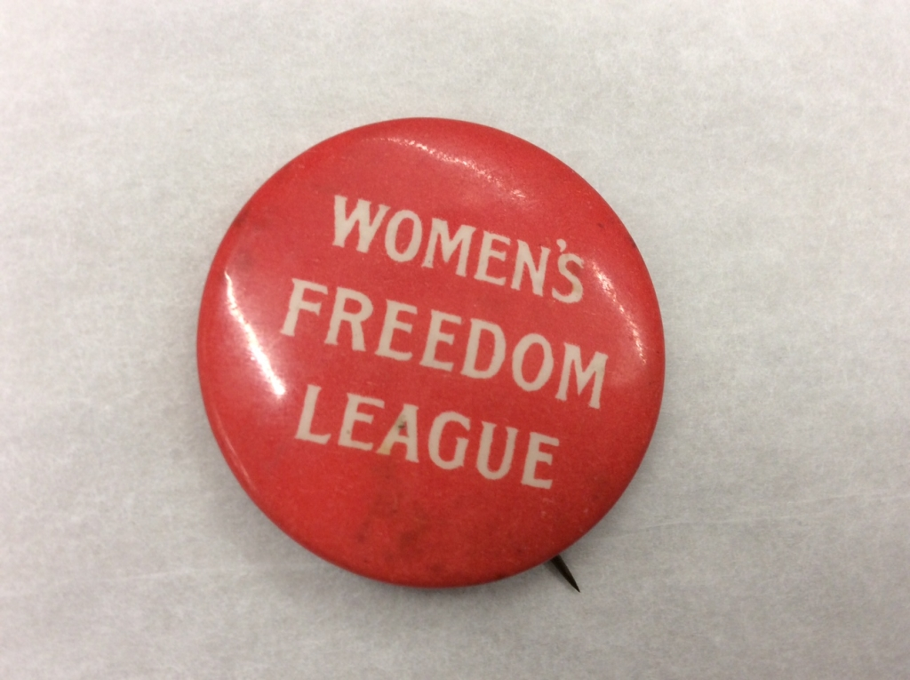 Women's Freedom League badge. Credit: LSE Library