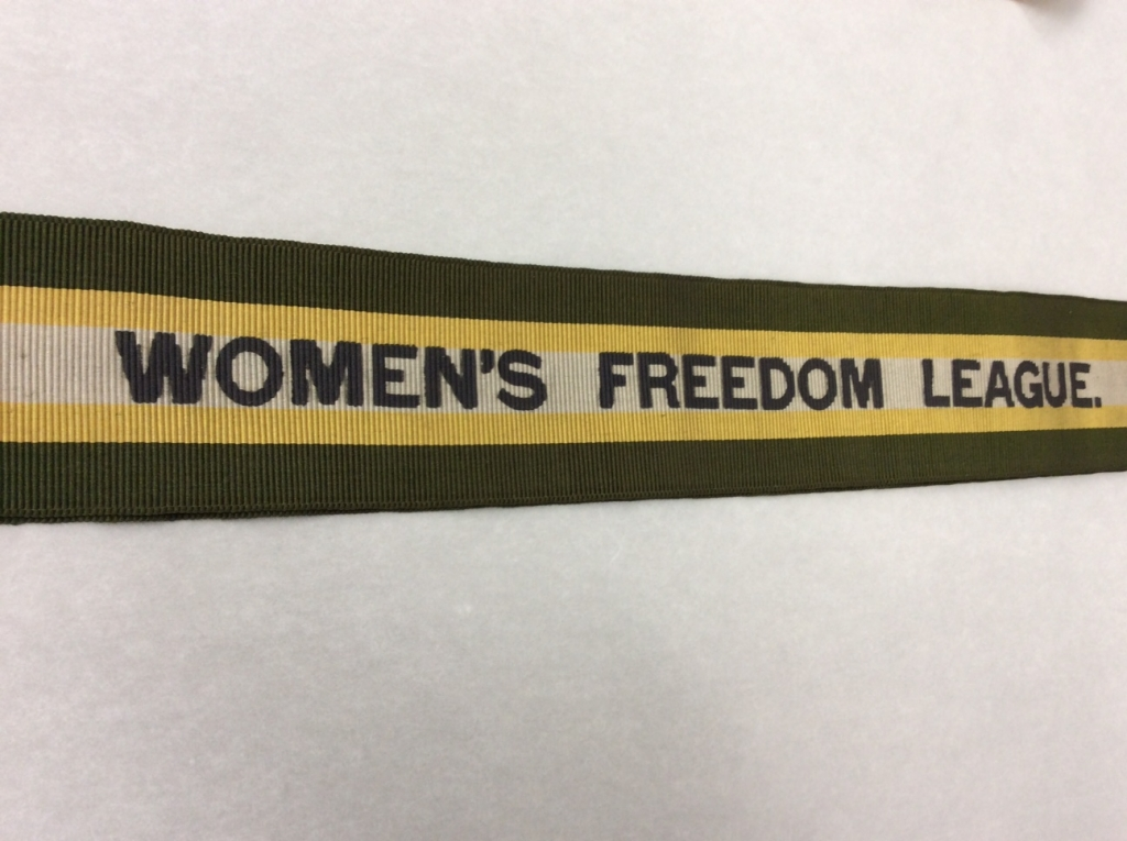 Women's Freedom League sash. Credit: LSE Library
