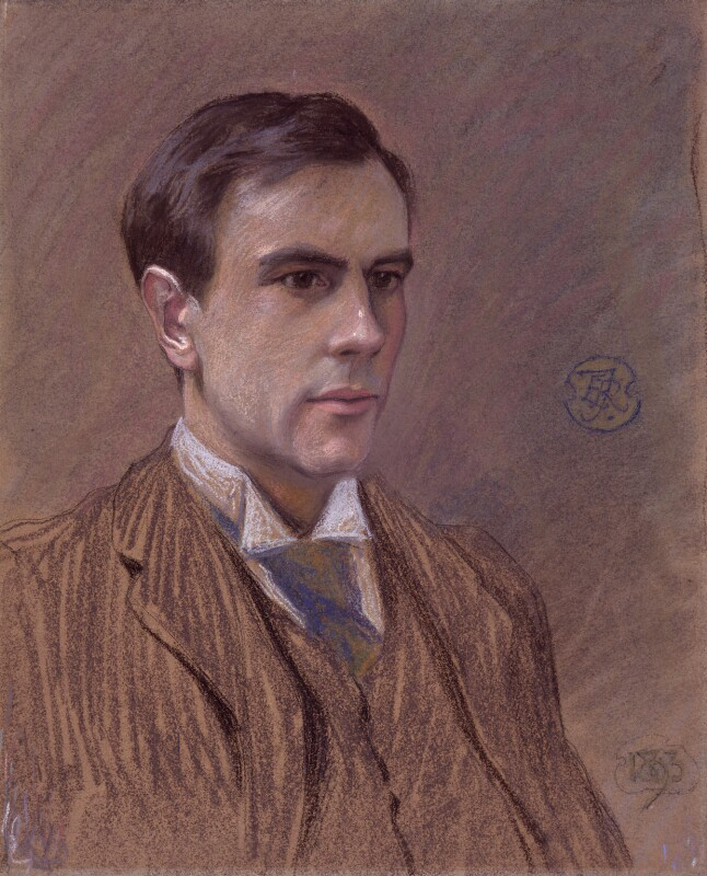 Goldsworthy Lowes Dickinson by Roger Fry chalk, 1893. Credit: NPG