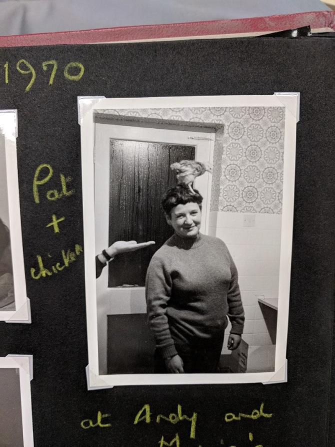 """Pat and Chicken"" Photograph album. Credit: LSE Library"