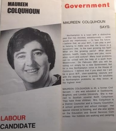 Maureen Colquhoun election leaflet 1974. Credit LSE Library