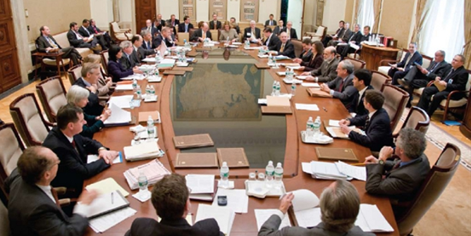 Meeting of the Federal Open Market Committee at the Eccles Building, Washington, D.C. Credit: Federal Reserve Bank of Philadelphia