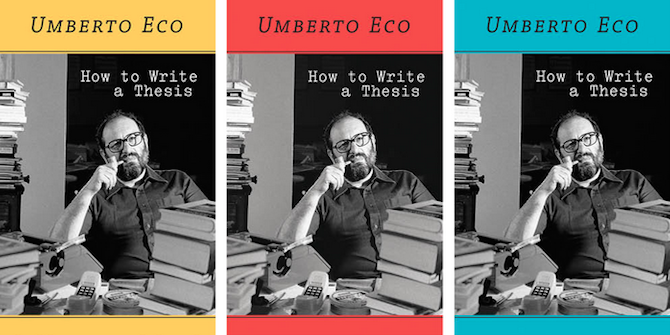 Book Review: How to Write a Thesis by Umberto Eco