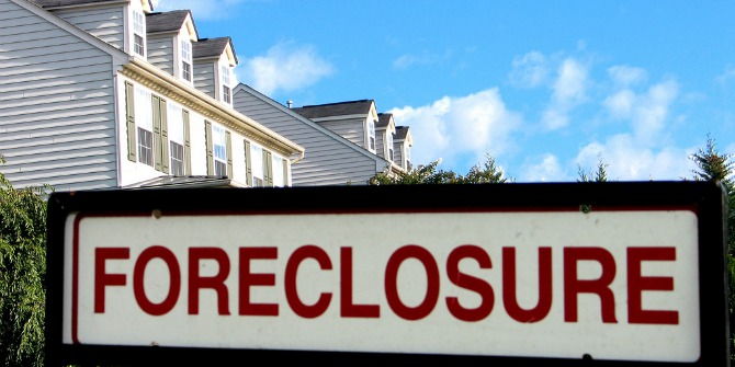 Image Credit: Taber Andrew Bain, Foreclosure, Haymarket, VA. Flickr. CC-BY-2.0.