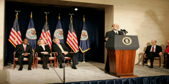 GWB Swearing-in Ceremony for the Chairman of the Federal Reserve. Federal Reserve Bank.