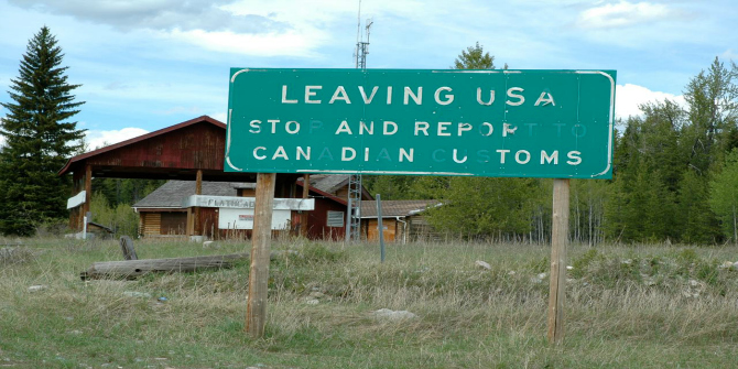 US-Canada border image