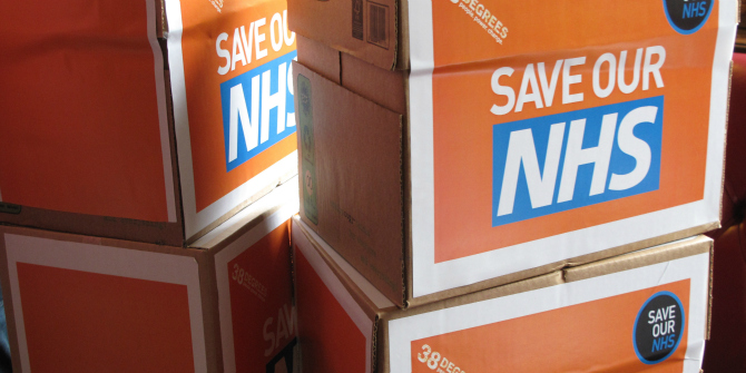 38 Degrees' members in Sheffield Hallam hand in our massive NHS petition to their MP, Nick Clegg