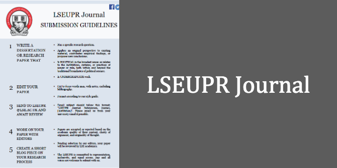 Submit to the LSEUPR Journal