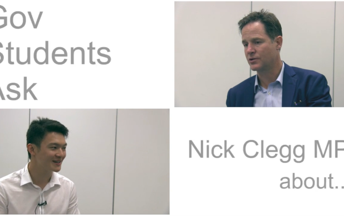 GOV STUDENTS ASK: Nick Clegg MP