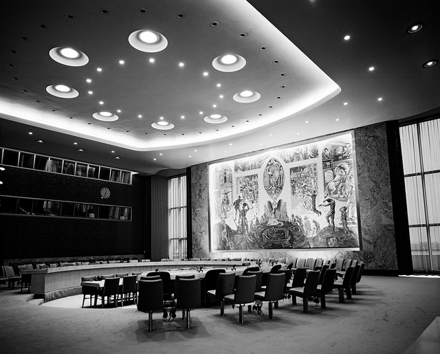 Security Council Chamber, United Nations, New York. UN Photo/x, 2005, flickr.com