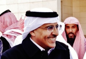 Mohammad al-Qahtani, co-founder of HASM, after the seventh trial session, 2012.