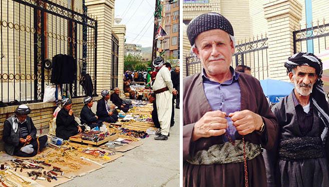 Sulaymaniyah Bazaar with Rosemary sellers
