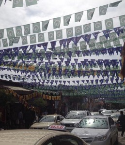 Election flags in Erbil