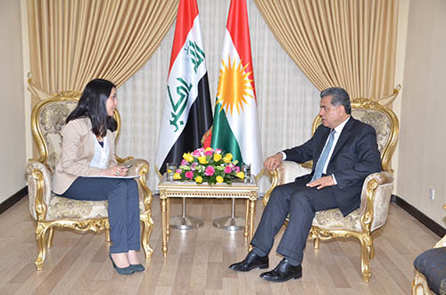 Meeting with Falah Mustafa, Head of the Department of Foreign Relations in the KRG