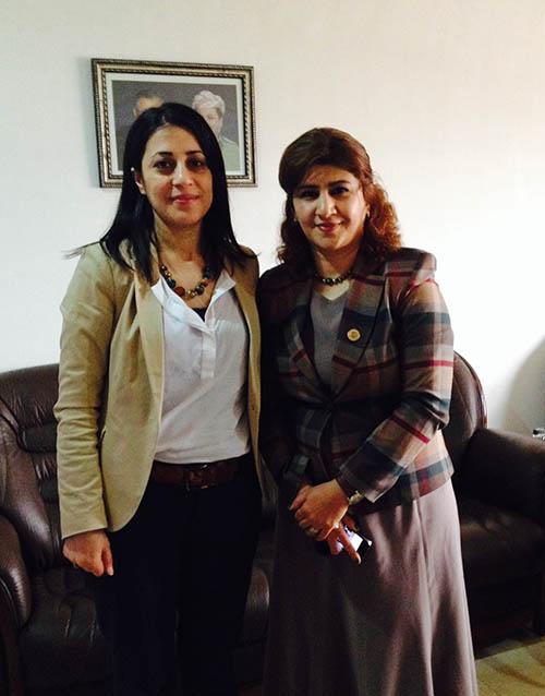Meeting with Tavga Rashid, DG of legal & Human Rights Protection HRC-KRG