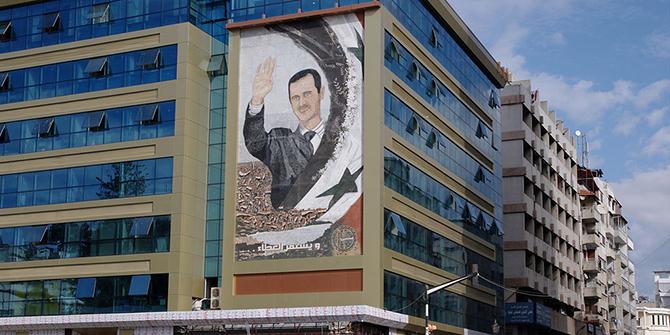 Mural of Bashar al Assad in Latakia, Syria
