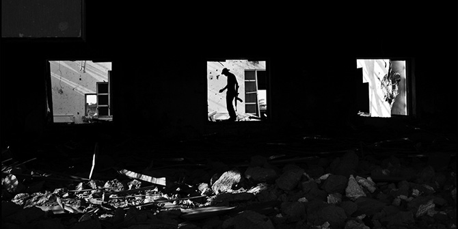Cleaning operations inside a destroyed building in Sirte, Libya. Il Fatto Quotidiano, source: flickr.com