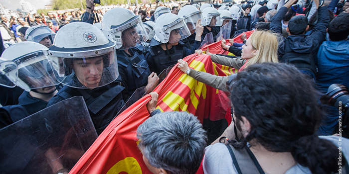 Intervention of police to May Day event in Gezi Park. Copyright Sasha Maksymenko, 2014.