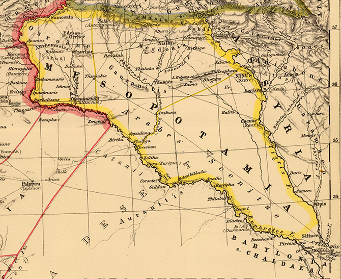 Map of Mesopotamia, Auctore Henrico Kiepert Berolinensi. Berlin, 1903.