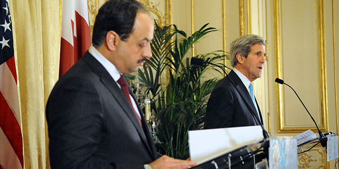 Secretary_Kerry_Delivers_Remarks_With_Foreign_Minister_Khalid_bin_Mohammad_al-Attiyah_of_Qatar_(11914258845)