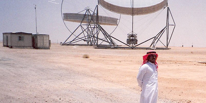 Solar energy research centre near Riyadh. © Martin Prochnik, Saudi Arabia, 2009.
