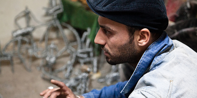 Anas, artist and resident of the Talbieh camp, © Omar Chatriwala, 2011.
