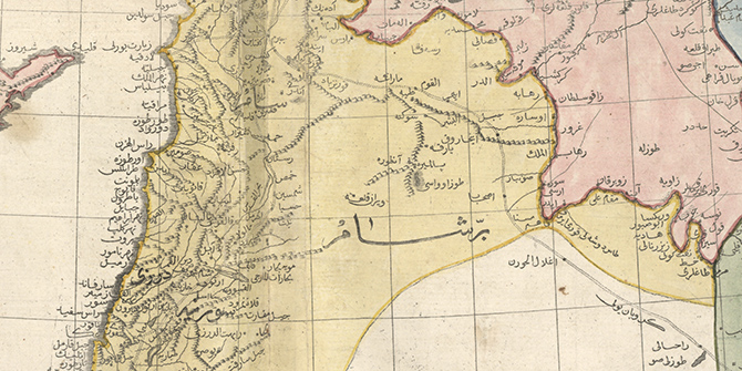 Syria in Cedid Atlas, 1803