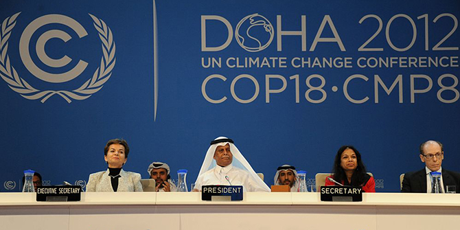 United Nations Climate Change Conference, Doha, Qatar, 2012