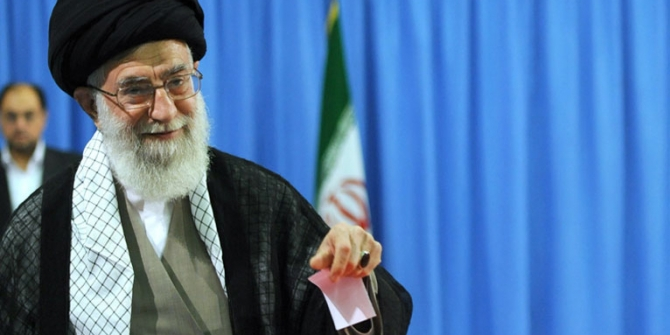 Supreme Leader Khamenei voting in 2013 Presidential Election of Iran