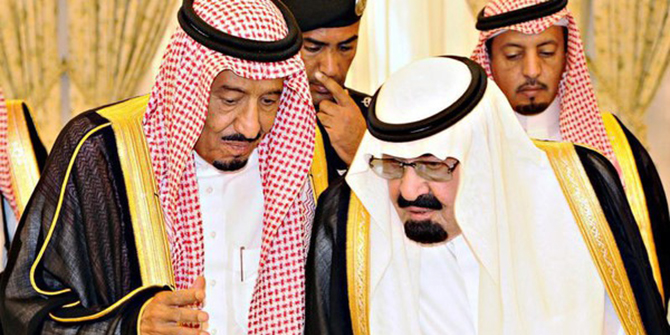 King Abdullah and Crown Prince Salman