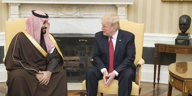 Muhammad ibn Salman meeting with President Trump