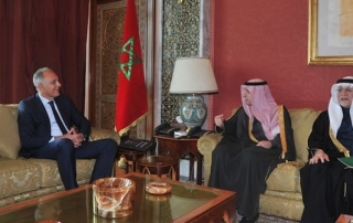 Moroccan and Saudi Ministers of Foreign Affairs in Rabat