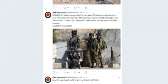 Portraying Israeli and Palestinian Identities on Twitter