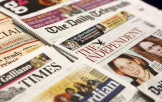 The front pages of UK newspapers on the 5th July 2011