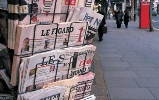 International newspapers on sale in Aldwych