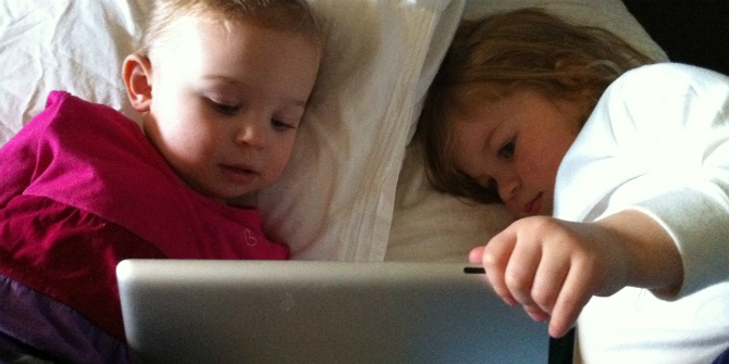 What are the effects of touchscreens on toddler development?