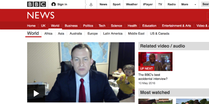 BBC interview dad, and the joys and perils of parenting on the internet