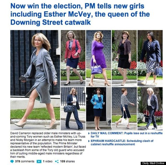 UK newspaper coverage of female politicians