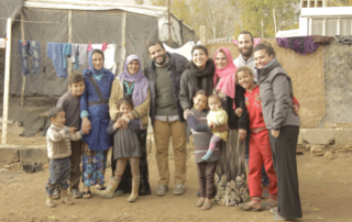 (Photo taken during the filming of a POLIS documentary at an informal Syrian refugee camp in Lebanon's Bekaa valley-December 2015