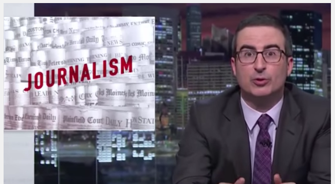 John Oliver's high moral view of journalism is part of the problem